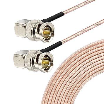 Eightwood SDI Cable BNC Macho ángulo Recto a Macho ángulo Recto 30 ...