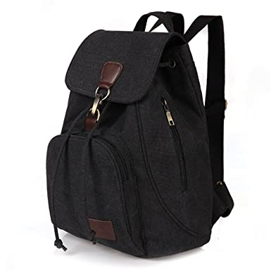 Amazon.com | Female Women Canvas Backpack School Lady Girl ...