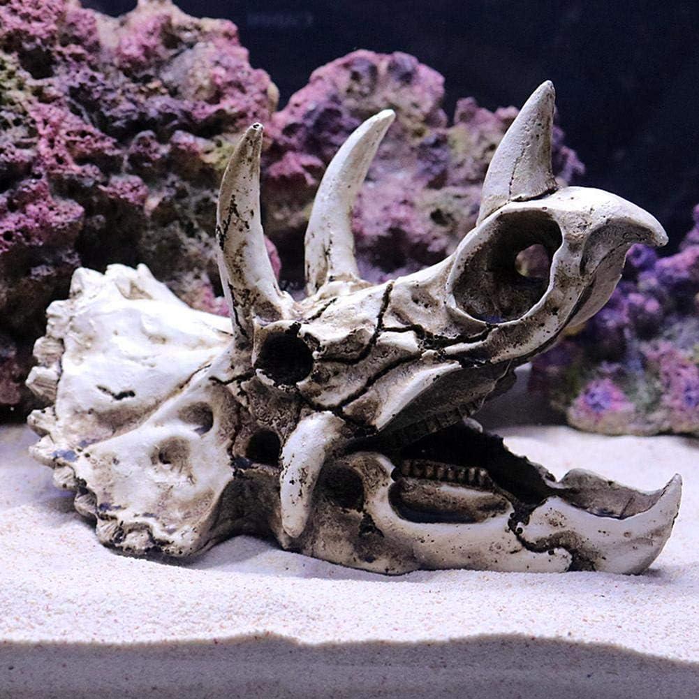 Dinosaur Bones Dodge House Resin Reptile Habitat Water Grass Landscaping Simulation Skull Fish Tank Aquarium Decoration