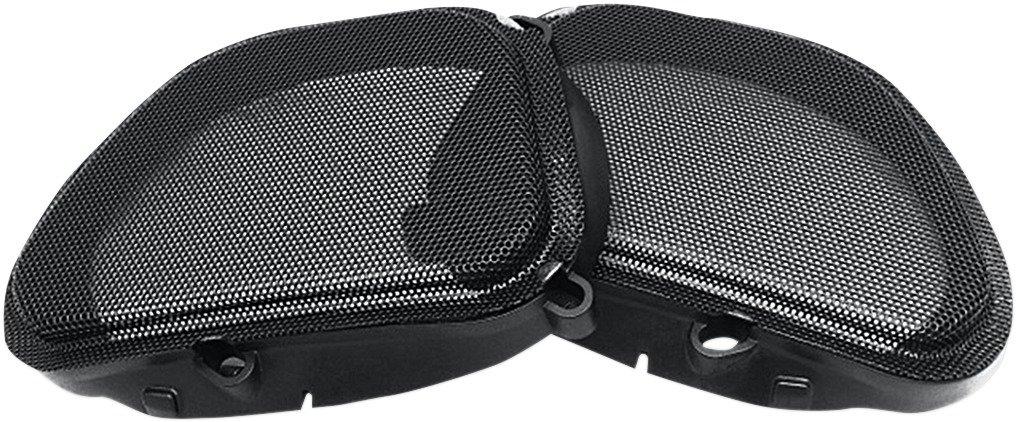Hogtunes 57 MESH Replacement Front Speaker Grille (for 1998-2013 Harley-Davidson FLTR Road Glide Models)