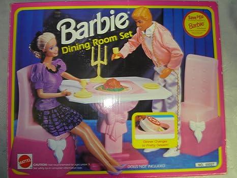 Fabulous Amazon Com Barbie Dining Room Set Toys Games Download Free Architecture Designs Itiscsunscenecom