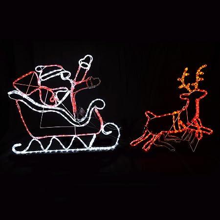 Multi coloured flashing moving led rope light santa sleigh reindeer multi coloured flashing moving led rope light santa sleigh reindeer christmas aloadofball Images