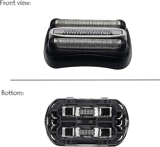Recambio 32B negro para afeitadora Braun Series 3 320 330 340 350 ...