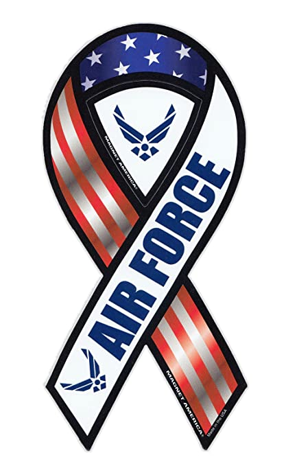 Magnetic bumper sticker united states air force ribbon shaped military support magnet 4quot