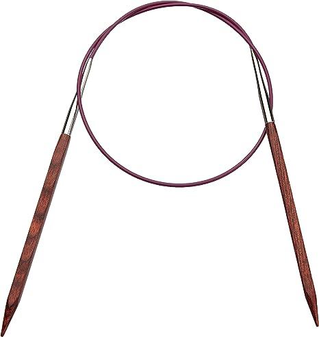 Agujas de tejer circulares 100 cm x 4 mm, madera de palisandro Knit Pro Cubics