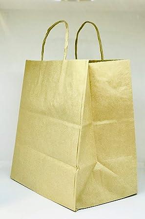 50 bolsas de papel kraft reciclado marrón para comida o ...