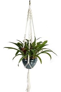 newcomdigi cuerda de nylon para maceta colgante de plantas percha de suspensin de macrame de plantas