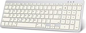 OMOTON Keyboard for iPad, Ultra-Slim Wireless Bluetooth Keyboard with Numeric Keypad for iPad Pro 11/12.9, iPad Air 10.9/10.5, iPad 8th 7th Generation 10.2, Silver