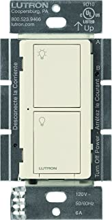 Lutron Caseta Wireless Smart Lighting Switch for All Bulb Types and Fans, PD-6ANS