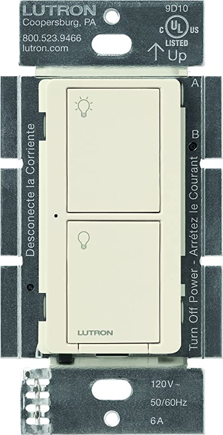 Lutron pd-6ans-wh caseta Wireless Neutral en la pared de múltiples Interruptor,