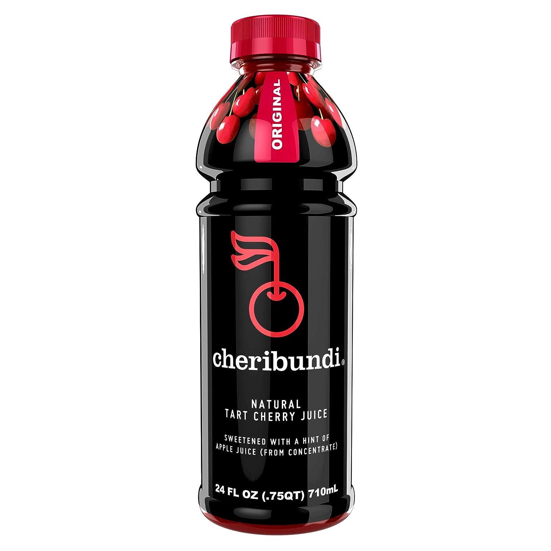 Cheribundi ORIGINAL Tart Cherry Juice - 50 Tart Cherries Per 8 Fl Oz Serving (Pack of 8), 100% Juice Naturally Sweetened, Hint of Apple, Reduce Soreness, Recover Faster, Boost Immunity, Improve Sleep