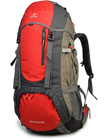 Tofine External Frame Hiking Backpack with Rainfly 60L Waterproof Nylon  Raincover 9be72dd345fb1