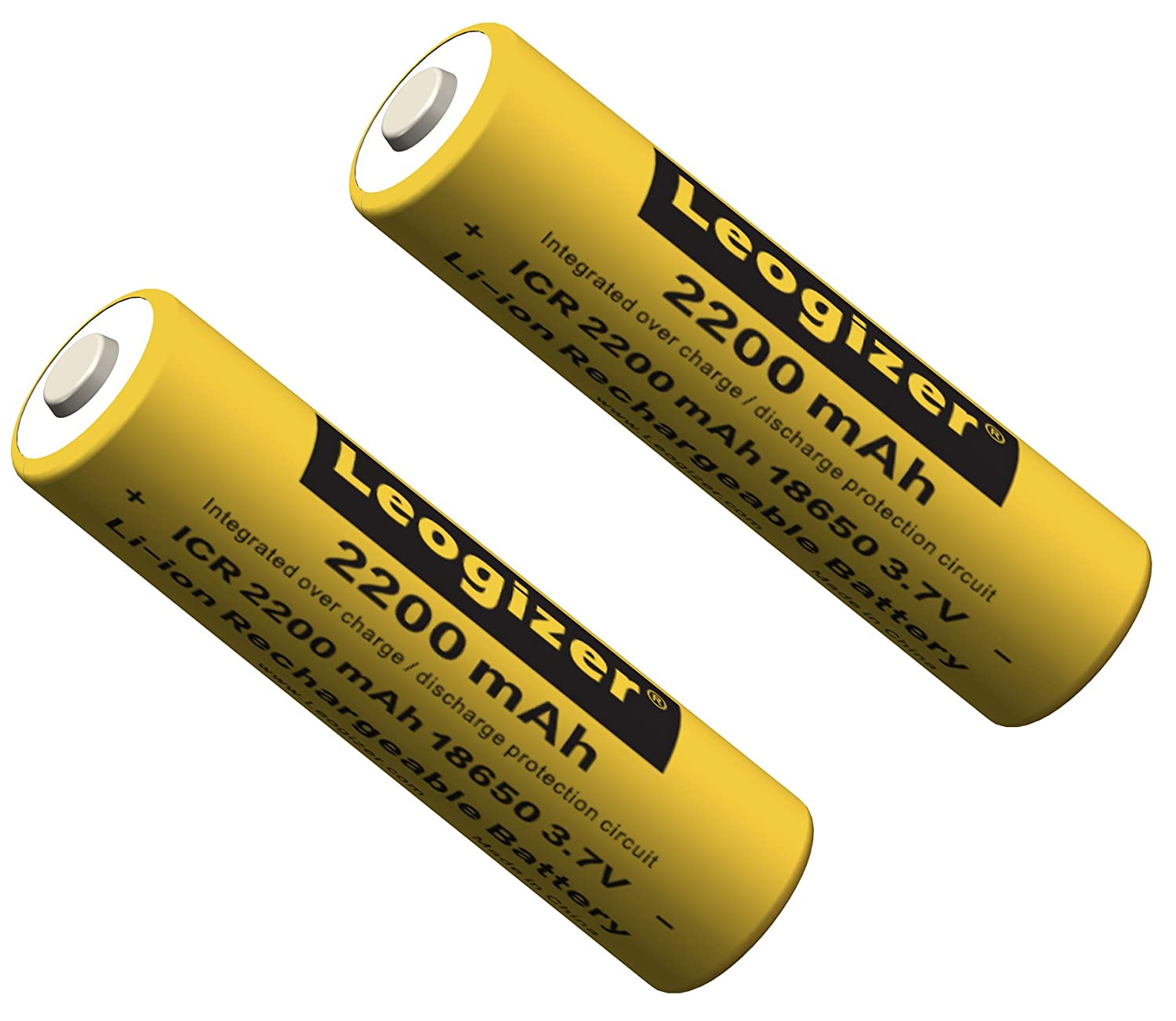 Leogizer Le22dt 18650 Lithium Ion Rechargeable Battery For Led Protection Circuit Images Of Flashlight With Board 37v Real 2200mah Capacity In Case 2pcs