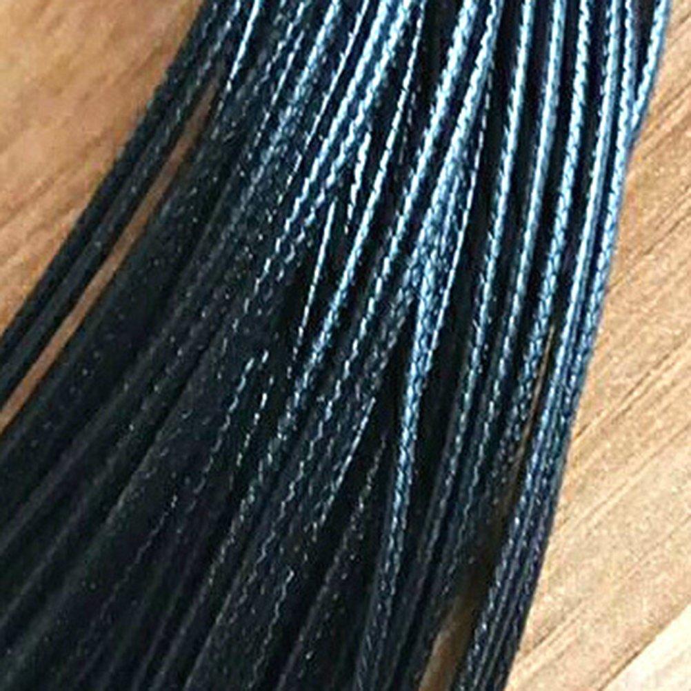 Healifty 10 Piezas de 1,5 mm y 45 cm de cord/ón Encerado Collar con Cierre a Granel para el Collar de la Pulsera y la fabricaci/ón de Joyas Negro