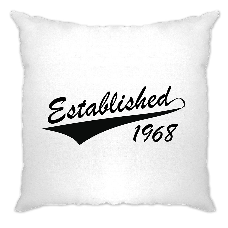 50th Birthday Cushion Cover Case Established In 1968 A-CC-00754-NAT