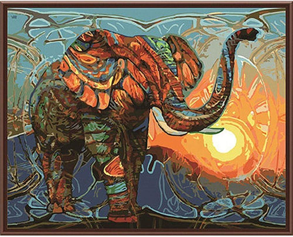 OKOUNOKO Puzzle 1000 Piezas, Elefante Abstracto, Puzzle 3D Personalizado De Madera Montaje Rompecabezas Divertido 75X50Cm