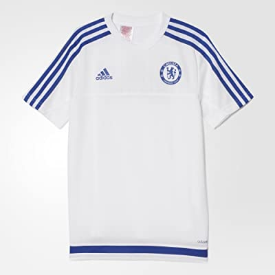 Adidas Chelsea FC Training Youth Jersey-WHITE