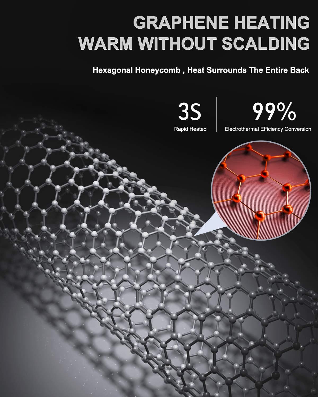 1 Confezione Coprisedile Riscaldato con 3 Livelli Regolatore Temperatura Wayrank Sedile Riscaldato al Grafene per Auto Realizzato in Pelle e Velluto 12V