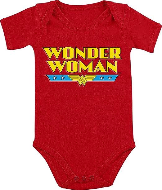 Wonder Woman Logo Pelele Rojo: Amazon.es: Ropa y accesorios