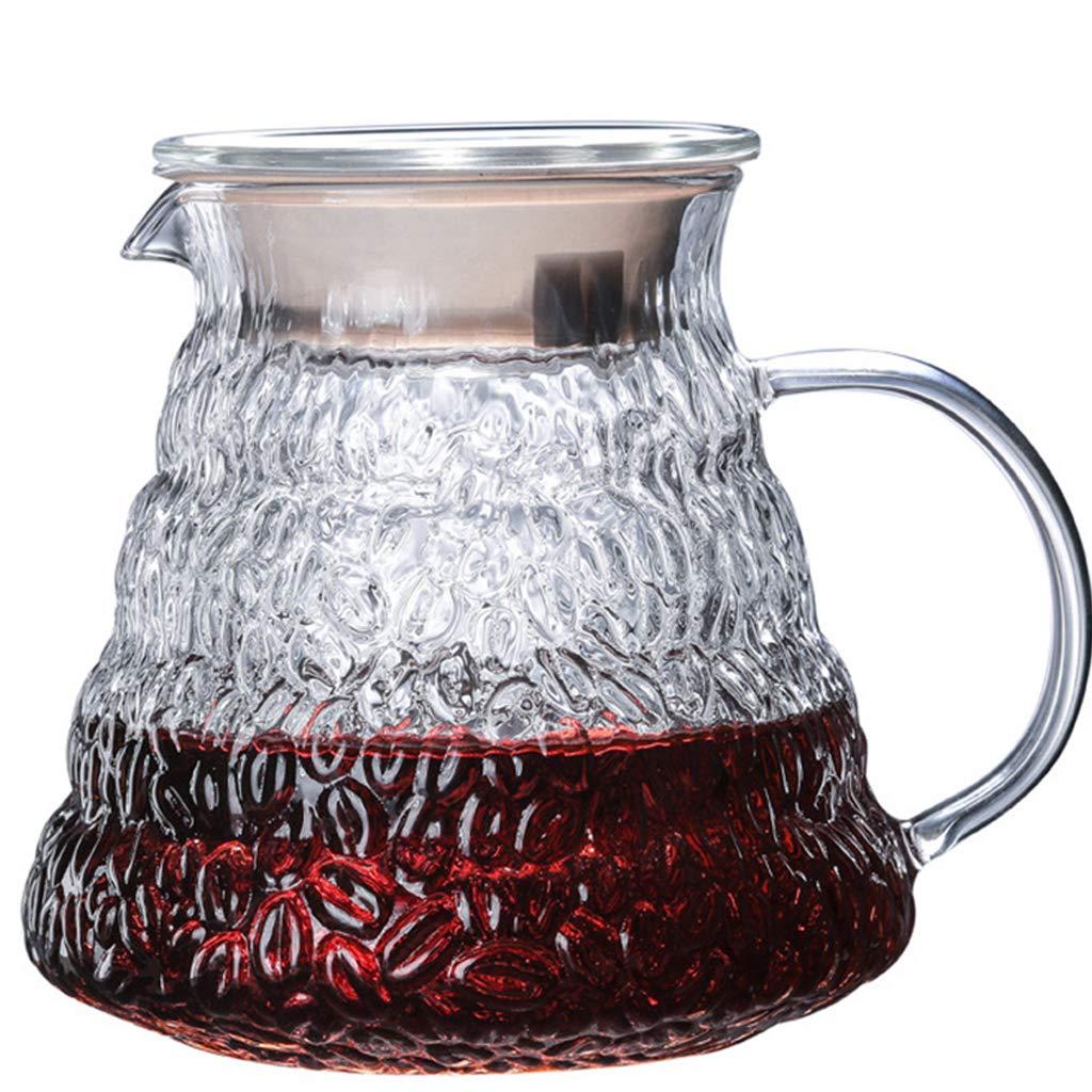 Acquisto YQQ-Caffettiera Caraffa per caffè in Vetro da 500 ml V60 Range Server Decanter, Trasparente, Il Riscaldamento a Fuoco Aperto Non scoppierà. Prezzi offerta