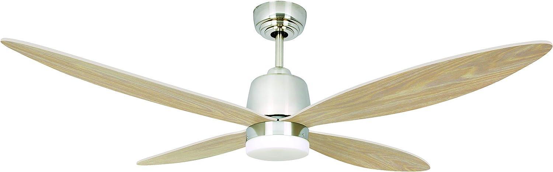 AireRyder Stratus ventilador de techo con iluminación de bajo consumo, con mando a distancia, 132 cm, aspas en punta ...