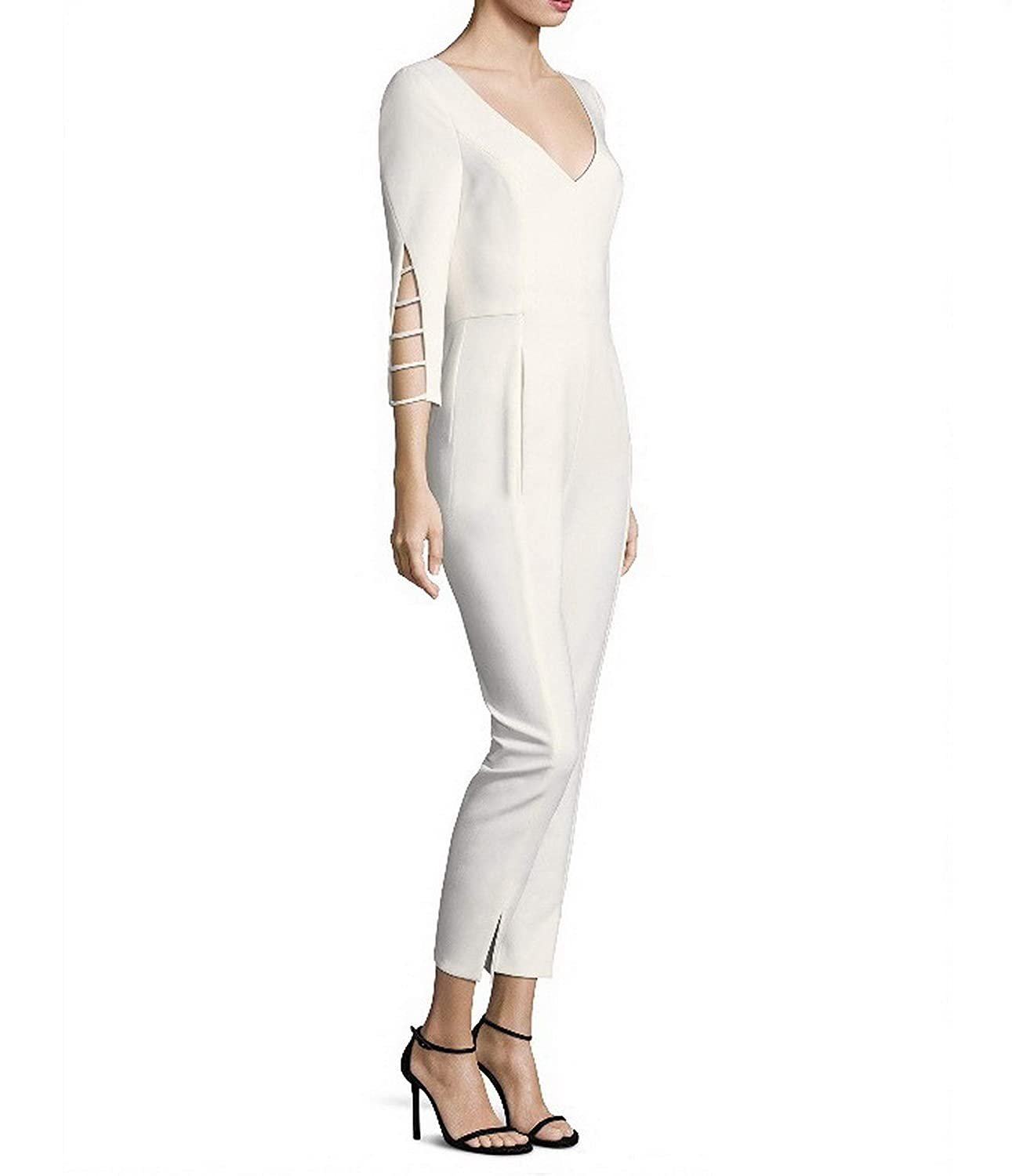 Black Halo Women's Rizzo Double Face Jumpsuit Porcelain 815F