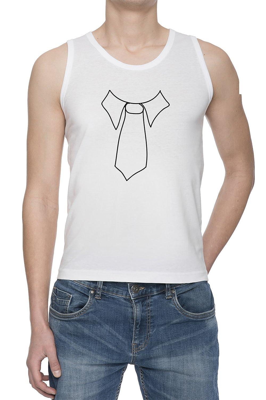 Corbata Gracioso De Tirantes Camiseta Para Hombre Blanca Todos Los ...