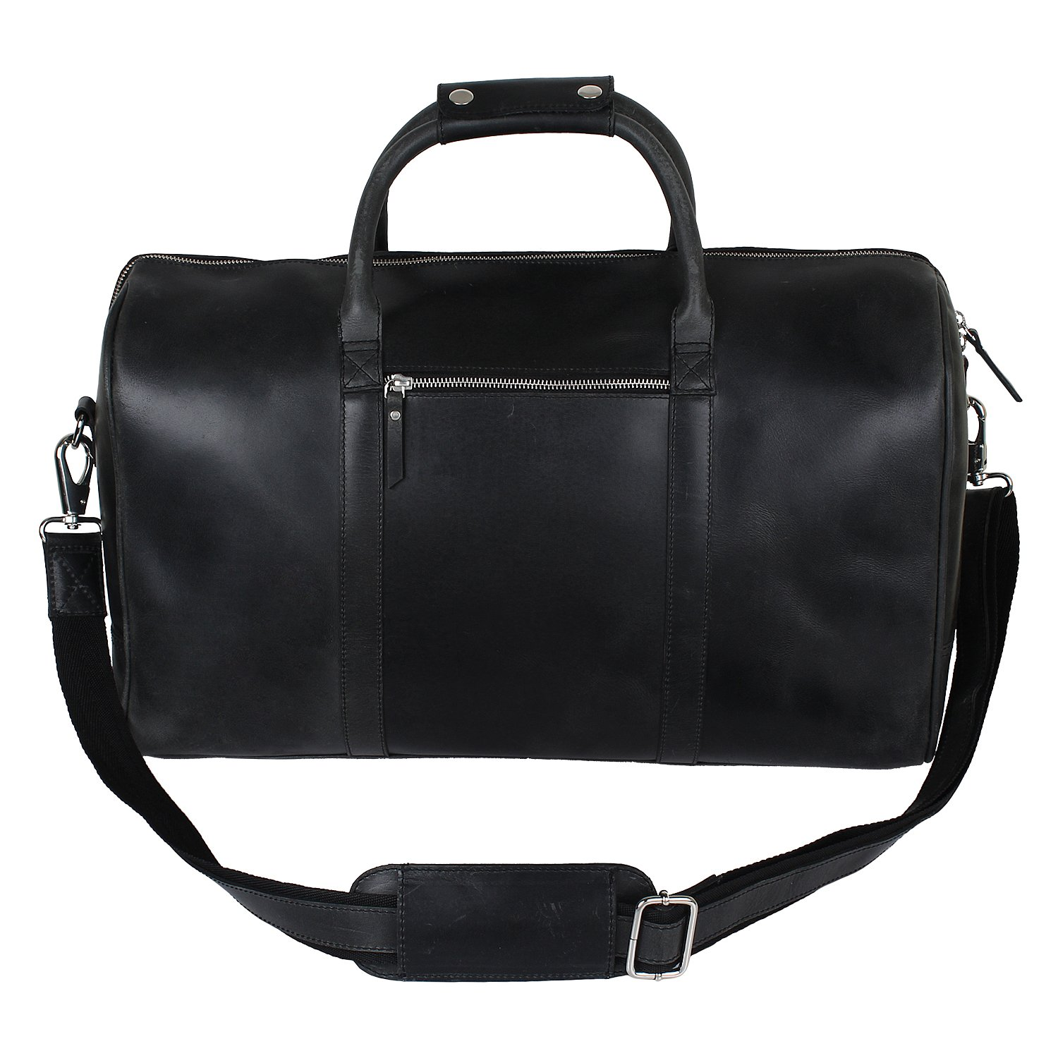 Amazon.com | 20inch Leather Travel Duffle Bag ~ Pockets Inside ...