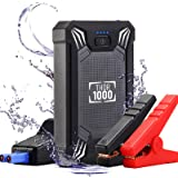 Car Battery Jump Starter Portable - 600A Peak Waterproof 12V Portable Battery Booster Pack (up to 4.0L Gas Or 2.0L Diesel Eng