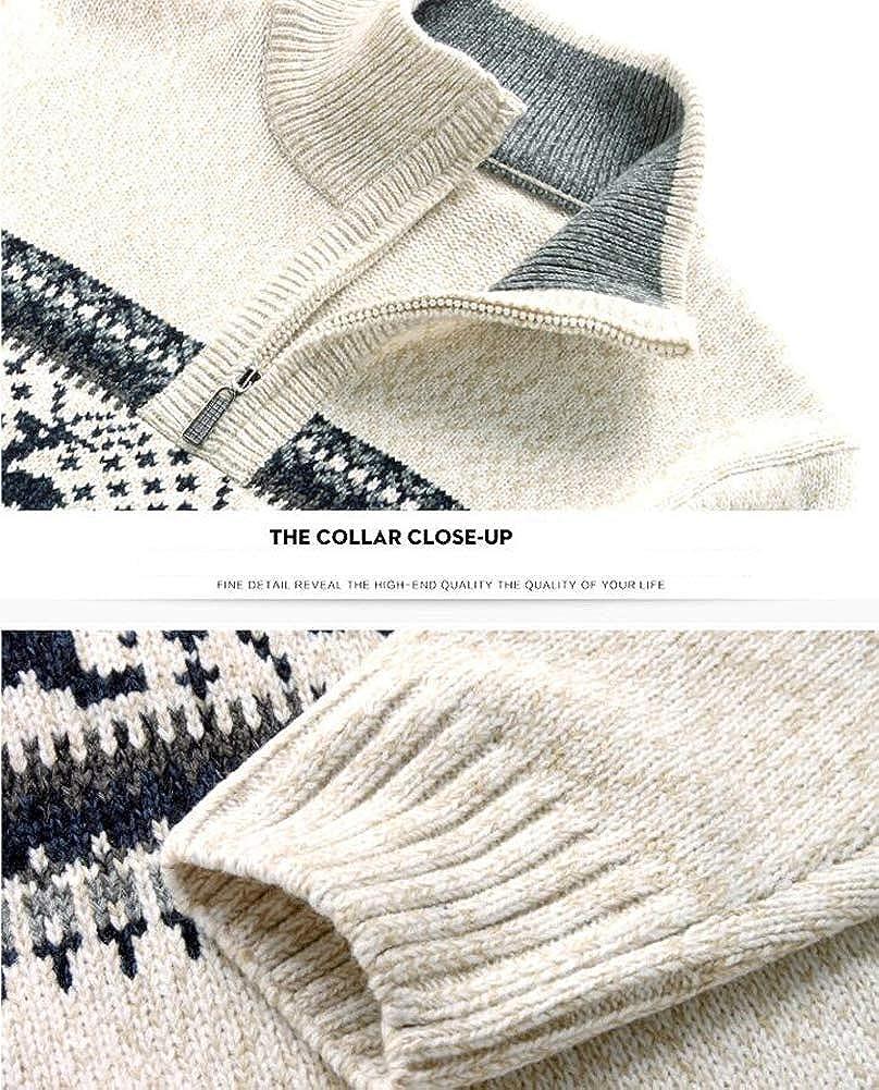 Hotmiss Mens Slim Fit Xmas Reindeer Crewneck Knit Pullover Christmas Sweater