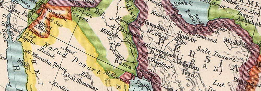 Shows West Bank under Jordanian occupation.BARTHOLOMEW 1952 map Political ASIA