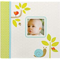Carter's Green Woodland Animals My First Years Bound Photo Album Baby Book, 11.6 x 9.5 x 1.2 inches, 60 Pages