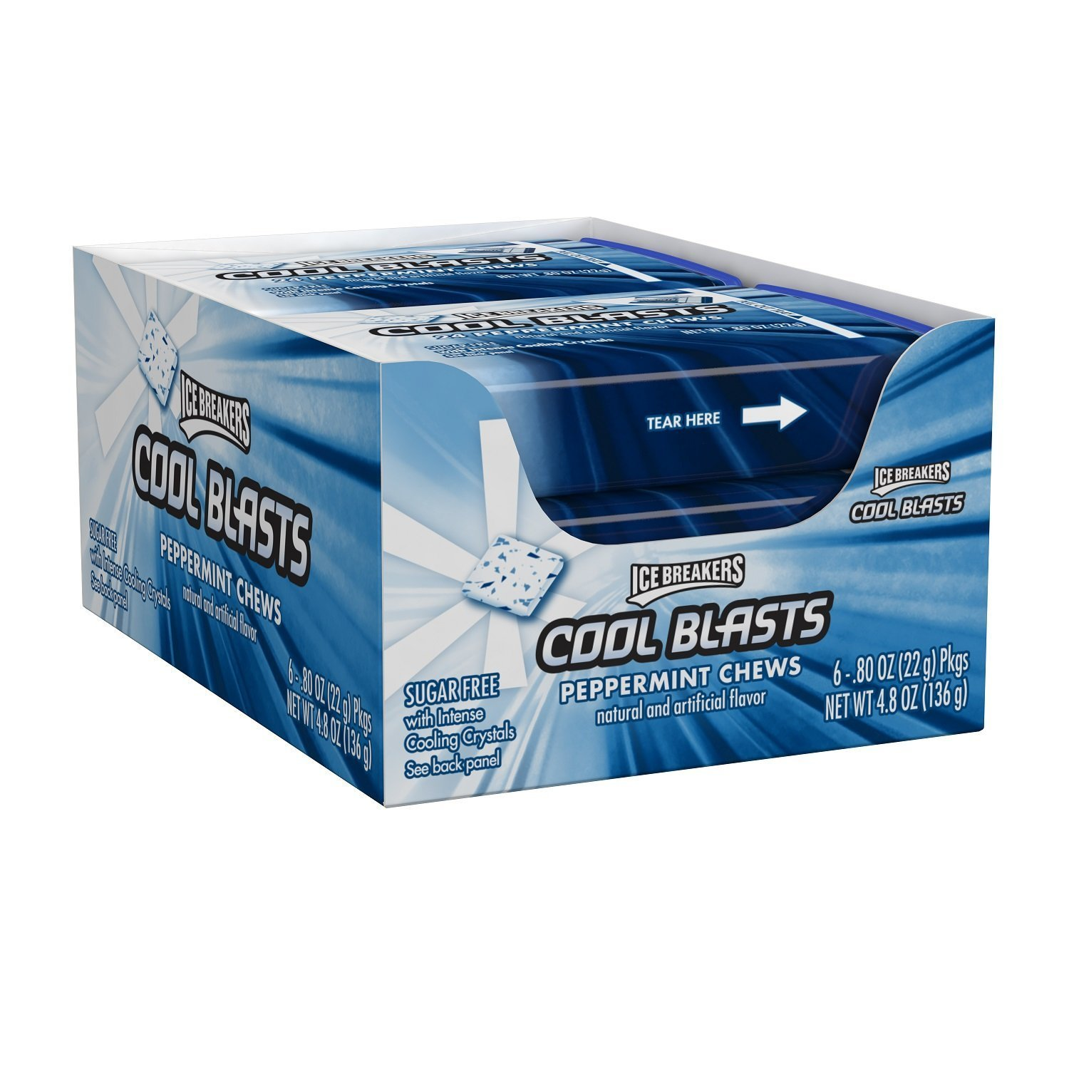 Amazon.com : ICE BREAKERS Cool Blasts Sugar Free Chews ...