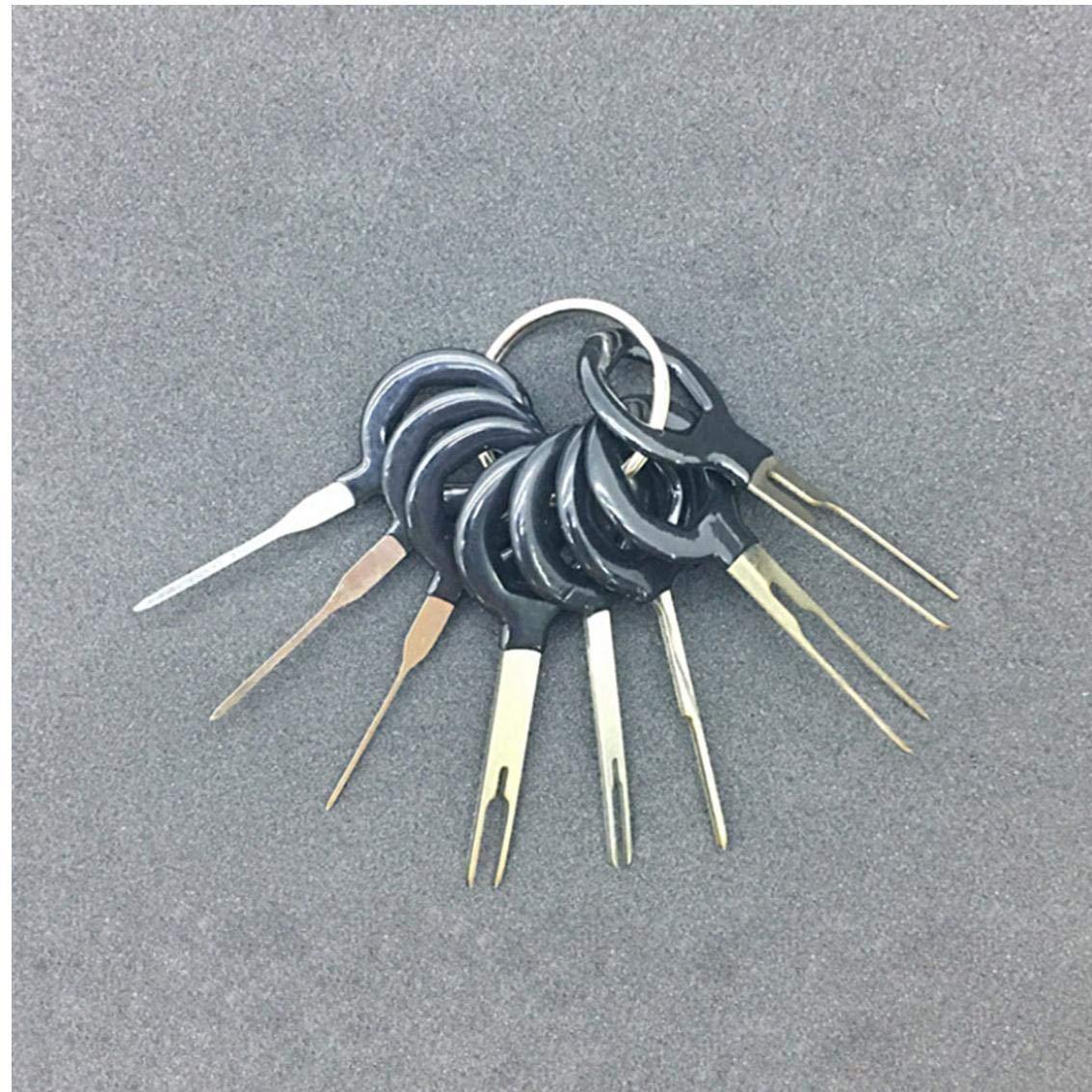 Set Herramientas de eliminaci/ón Terminal Car Kit de cableado el/éctrico prensado del Conector Pin Extractor Onsinic Arn/és de Cable Conector Crimp Pin 11Pcs