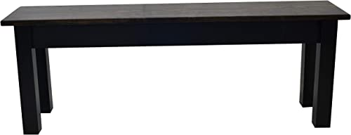 Dark Walnut and Black Bench 24