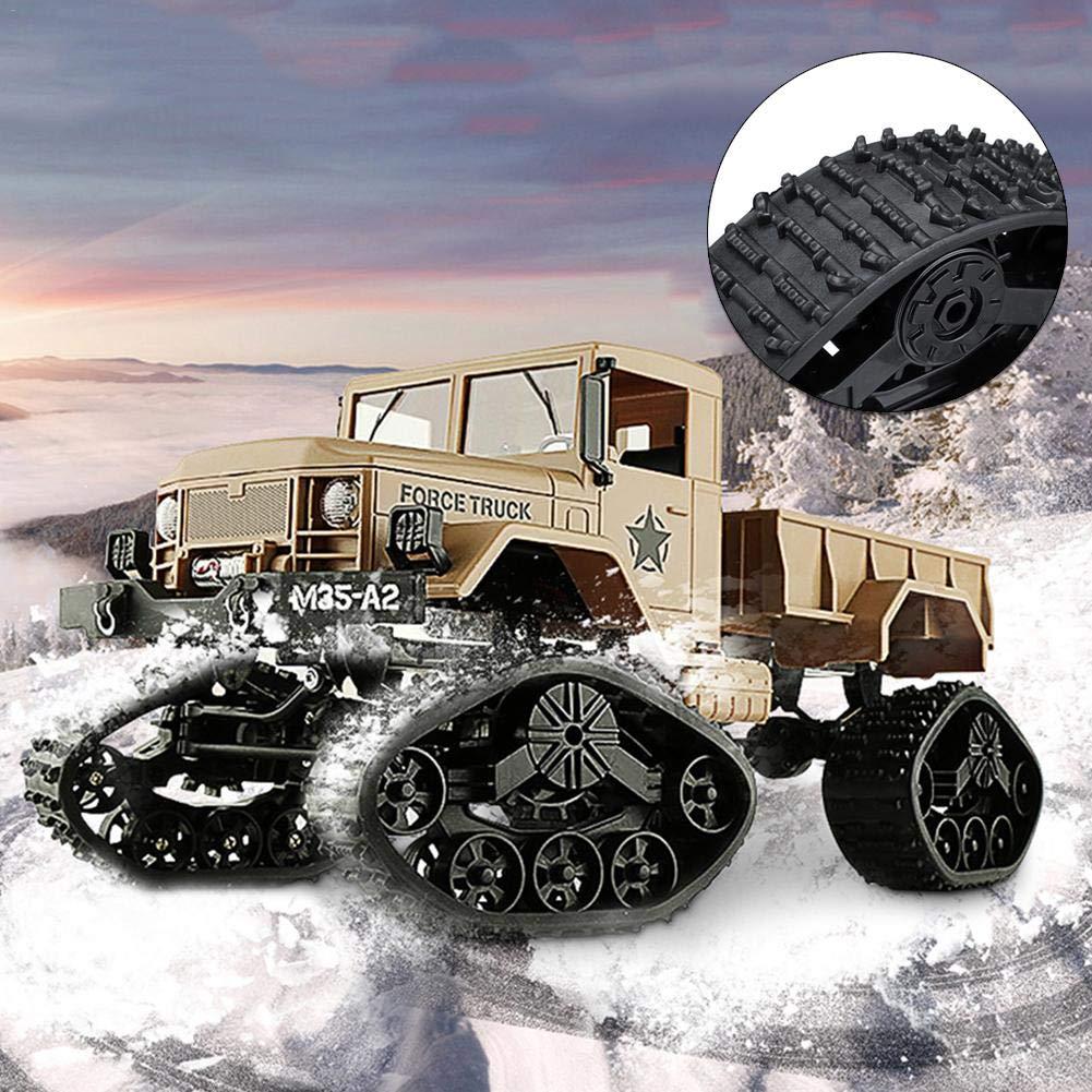Navigatee ruedas de oruga para auto cotrol remoto - 4PCS neumáticos de nieve WPL Naughty Dragon 4WD banda de oruga de reemplazo pista de control remoto ...