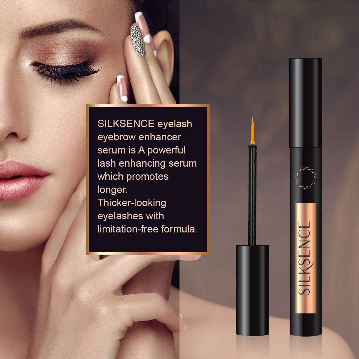 Silksence Eyelash Growth Serum for Lash and Brow Irritation Free Formula 3ML