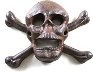 Cast Iron Wall Mounted Skull & Crossbones Bottle Opener