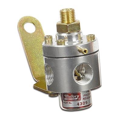 Mallory 29387 Adjustable Fuel Pressure Regulator (3-12PSI Carb): Automotive