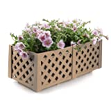T4U Resin Window Planter Box Wood