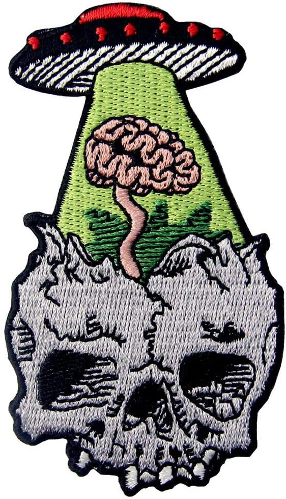 I Lost My mind Bikers Embroidered Patch Badge