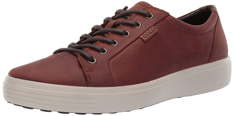 Cognac Oil Nubuck ECCO shoes Men's Soft 7 Lace Low