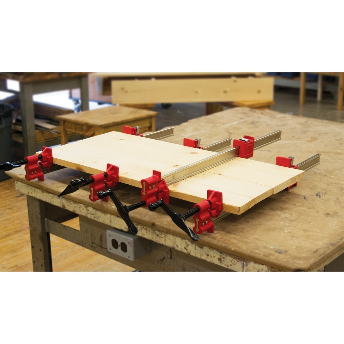 One (1) Pair BESSEY 48'' Heavy-Duty IBeam Bar Clamps for Woodworking by Bessey (Image #4)