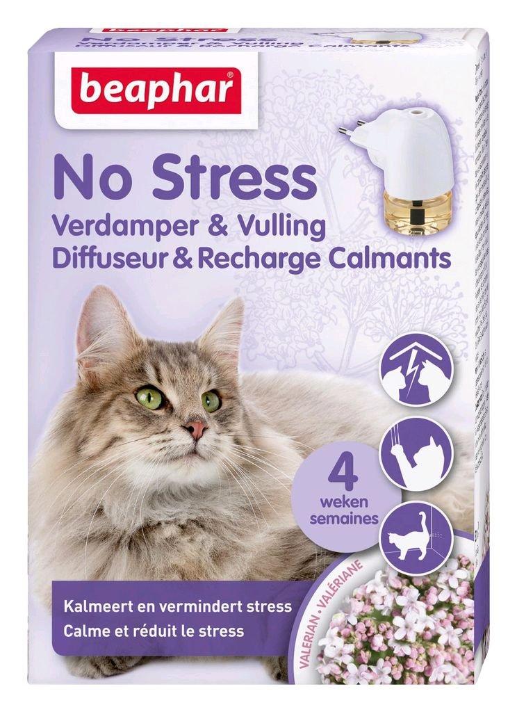 Beaphar - Diffuseur Calmant, Anti-Stress pour apaiser l'animal - Chat - 1 Prise et 1 Recharge DE 30 ML BEA14897