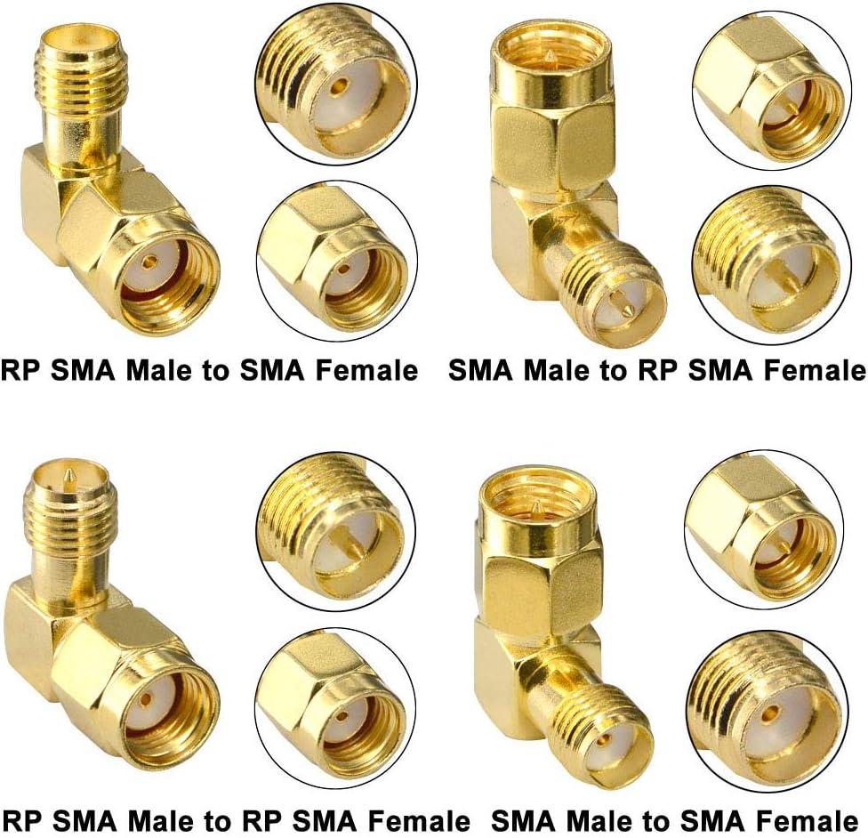YILIANDUO Paquete de 2 Conector Coaxial RF SMA Hembra a TV IEC DVB-T PAL Macho Convertidor Tornillo Enchufe Uso a Adaptador A/éreo Extensor Adaptador de Cable Extendido