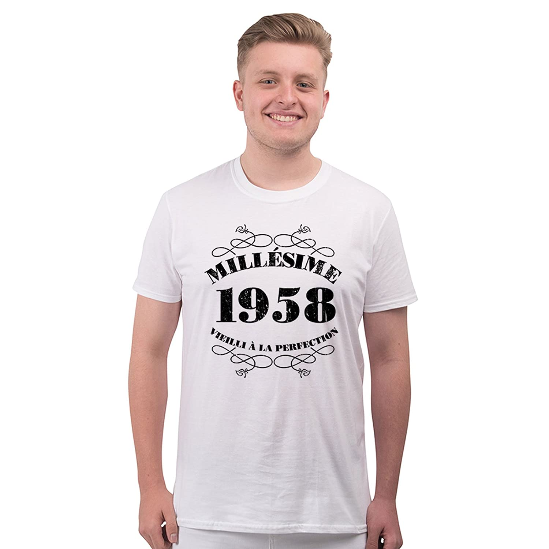 Bang Tidy Clothing T-Shirt Anniversaire Homme 60 Ans Millésime 1958:  Amazon.fr: Vêtements et accessoires
