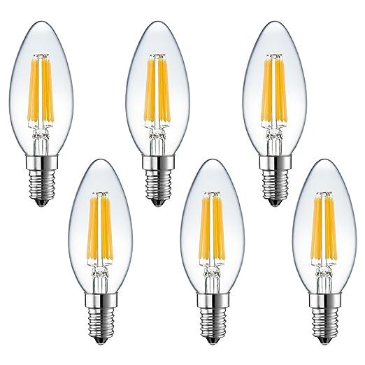 Bombillas LED de la marca Rayhoo, con filamento, regulables, 6W,