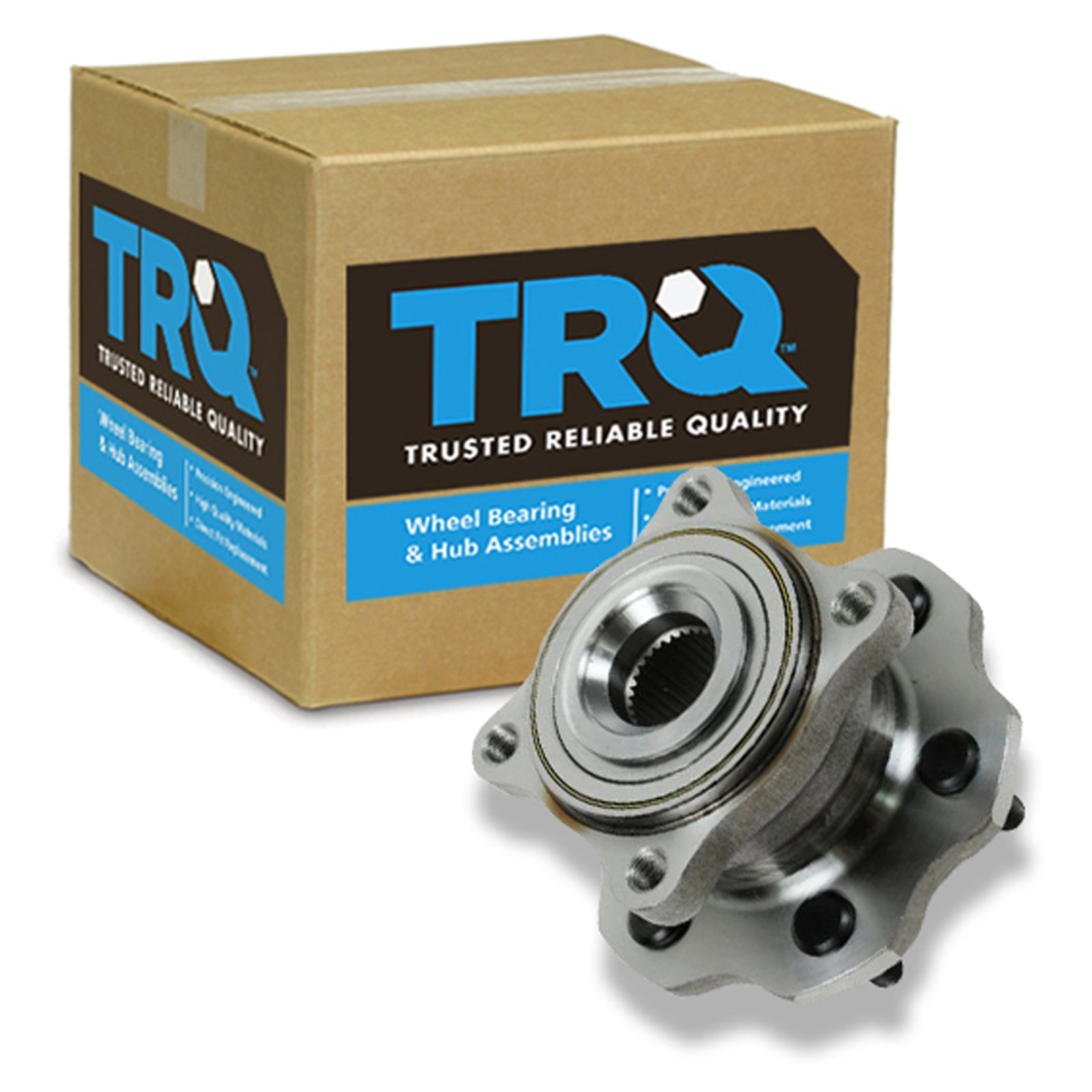 TRQ Wheel Bearing & Hub Assembly Rear for 05-12 Nissan Pathfinder