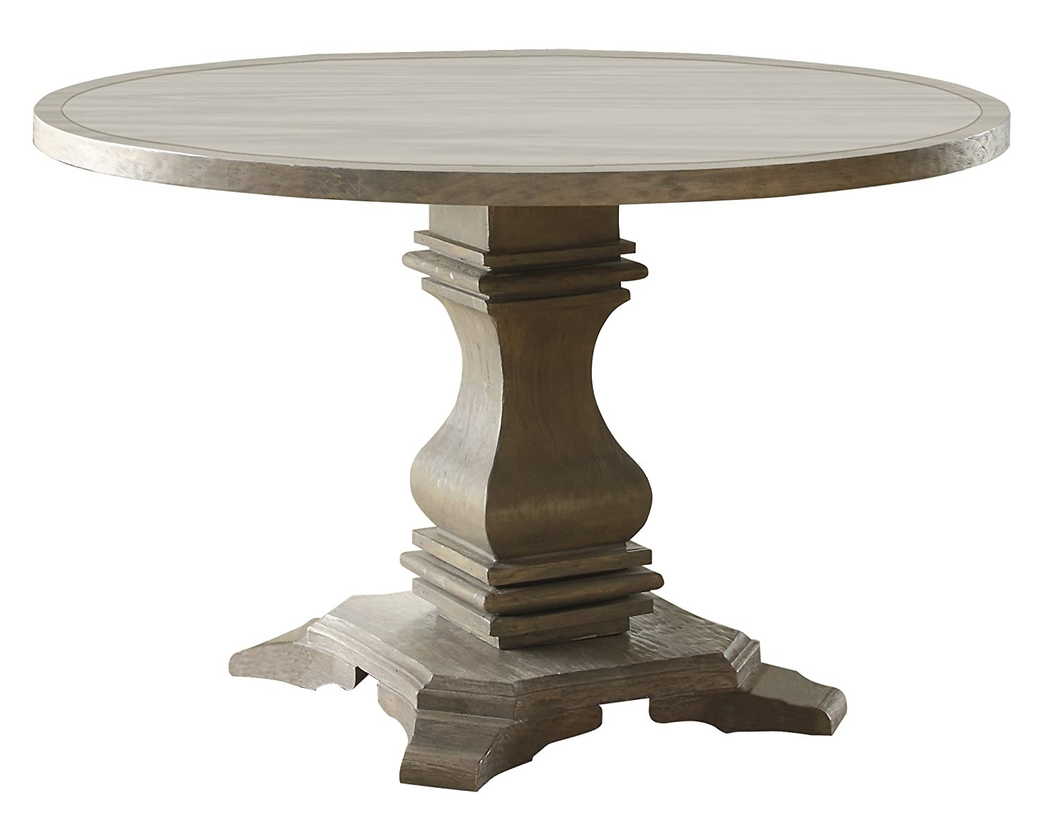 Homelegance Euro Casual 48 Round Dining Table Gray