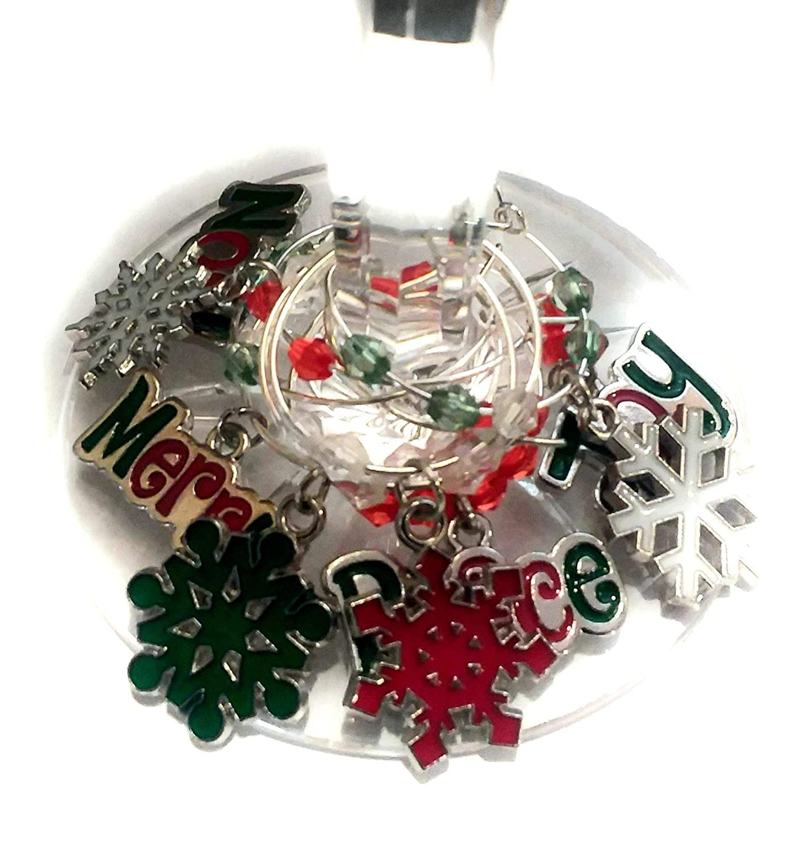 Christmas Wine Charms - Inspirational Christmas Gift - Snowflake